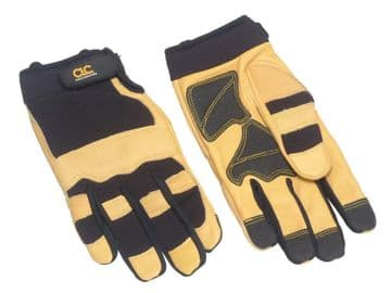 Hybrid-275 Top Grain Leather Neoprene Cuff Gloves - Large